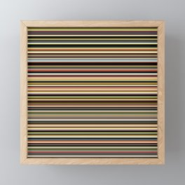 Old Skool Stripes - The Dark Side - Horizontal Framed Mini Art Print