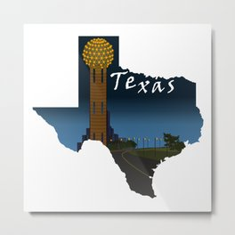 Texas: Reunion Tower Metal Print