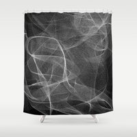 smoke Shower Curtains featuring SMOKE by Jason Vallas