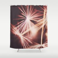 ruby Shower Curtains featuring ruby by Ingrid Beddoes