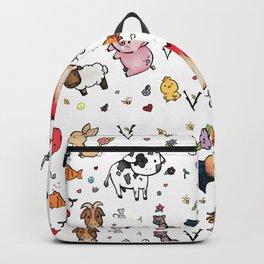 Go vegan pattern Backpack