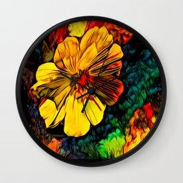 Mystique Floral Wall Clock