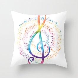 Harmony Music Clef Throw Pillow