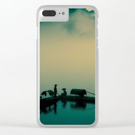 Junk ship Chinese Boat Clear iPhone Case
