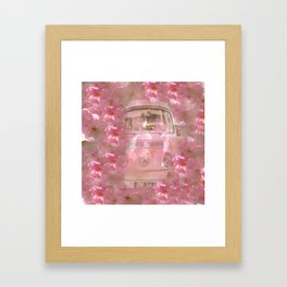 DESTINATION CHERRY BLOSSOM ROAD Framed Art Print