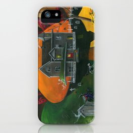Hilly Haunted House iPhone Case