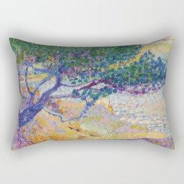 """Henri-Edmond Cross """"Étude pour La baie de Cavalière"""" Rectangular Pillow"""