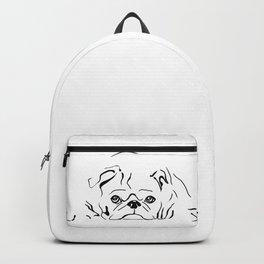Pug dog line art Backpack