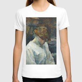 """Henri de Toulouse-Lautrec """"La Rousse in a White Blouse"""" T-shirt"""
