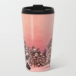 Magic of frozen forest Metal Travel Mug