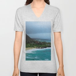 A Postcard Home from Paradise Unisex V-Neck