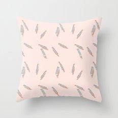 Lipstick pattern Throw Pillow