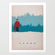Fargo Minimalist Vintage poster Art Print