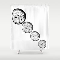 moonrise Shower Curtains featuring Moonrise by Destiny Davison