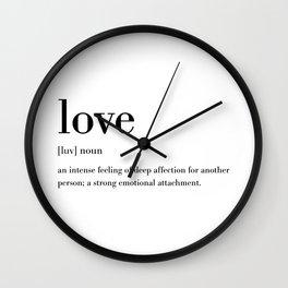 Love Definition Wall Clock
