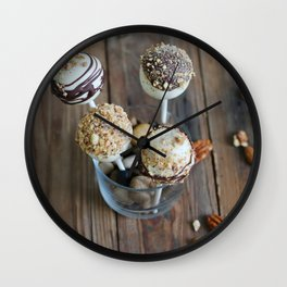 Nut Cake Pops Wall Clock