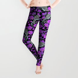 Chameleons and orchids (Gothic) Leggings