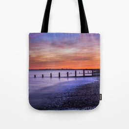Sunset over Dymchurch Tote Bag