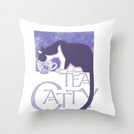 Tea Catty Throw Pillow