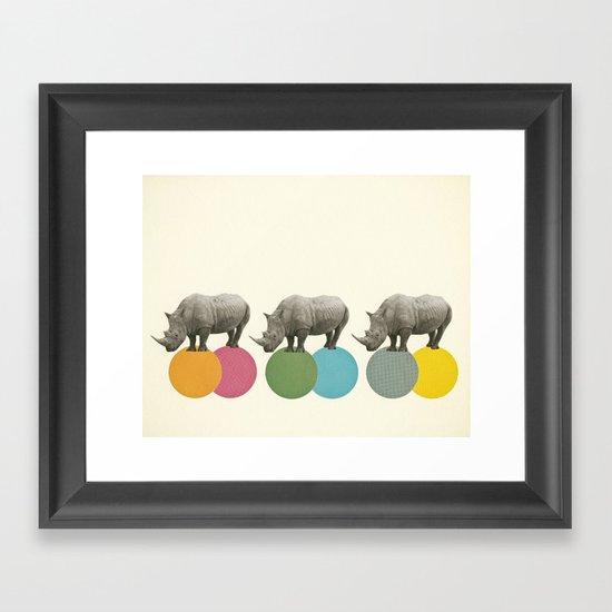 Rambling Rhinos Framed Art Print