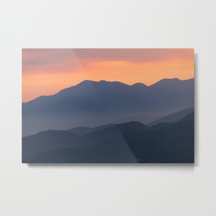 Mountain Sunset II (Big Bear Lake, California) Metal Print