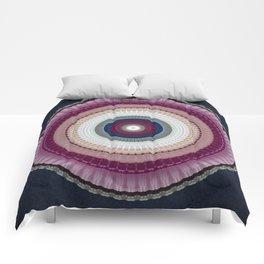 Decorative Wine Dark Blue Mandala Comforters