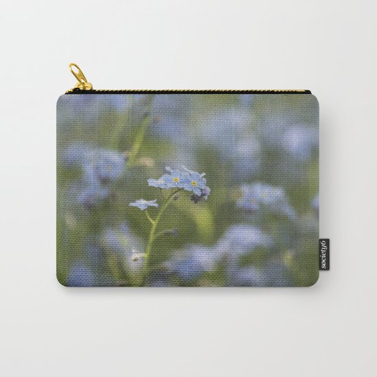 Forget me not in LOVE - Blue Flower Floral Spring Flowers on #Society6 Carry-All Pouch