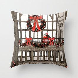 Union Station Santa Throw Pillow