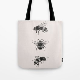 Three Bees Tote Bag