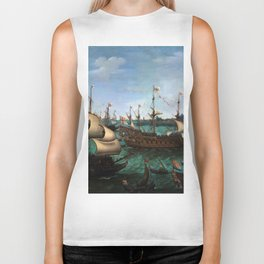 "Hendrik Cornelisz Vroom ""The Arrival of Elector Frederick V of the Palatinate and Elizabeth"" Biker Tank"