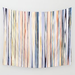 pastel abstract striped pattern Wall Tapestry