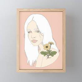 No Rain, No Flowers Framed Mini Art Print