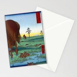 Hiroshige - 36 Views of Mount Fuji (1858) - 33: Kogane Plain in Shimōsa Province Stationery Cards