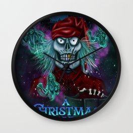 A Christmas Scarol by Topher Adam 2016 Wall Clock