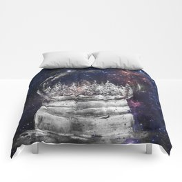 Magical Winter Snow globe Comforters