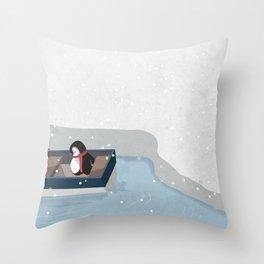 Reaching the South Pole Throw Pillow