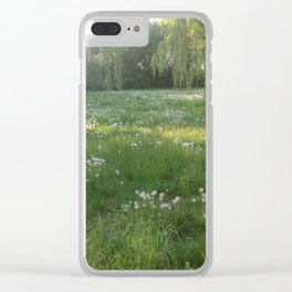 Lawn Wishes Clear iPhone Case