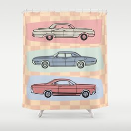 Motor Style Inc.: 60s American Heavy Metal Shower Curtain