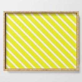 Lemon Curd Diagonal Stripes Serving Tray