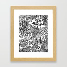 the clusterfuck b/w Framed Art Print