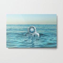 scuba space Metal Print