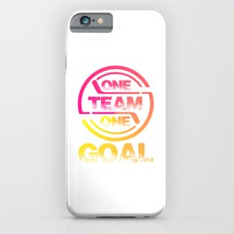 One Team One Goal yp iPhone Case