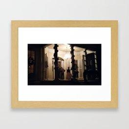 Violet Bank by Candle Light Framed Art Print