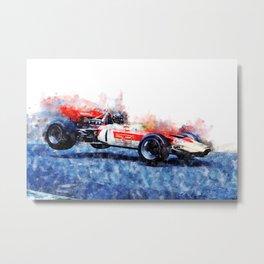 Graham Hill, Nurburgring jump Metal Print