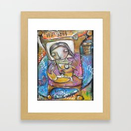 He Just Keeps Growing Framed Art Print