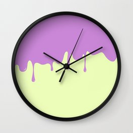 Cotton Candy Drips PURP Wall Clock