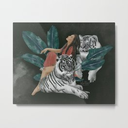 White tigers / Trust your wild side Metal Print