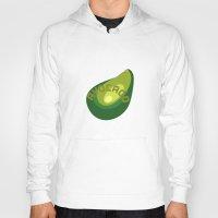 avocado Hoodies featuring AVOCADO FRUIT by Sofia Youshi