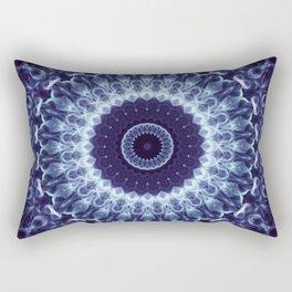 Mandala in dark blue colors Rectangular Pillow