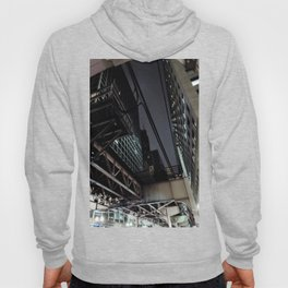 City VI - Urban City Metropolis Industrial Train Tracks  Hoody